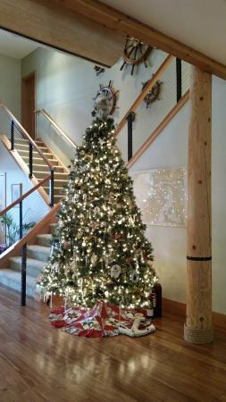 A Lighthouse on Hammersley Bed and Breakfast: Entry Christmas tree