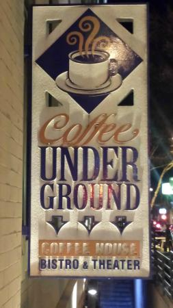 Coffee Underground: outside sign