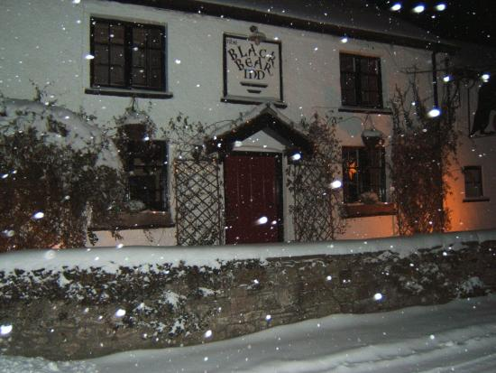 The Black Bear Inn: Black Bear in the snow