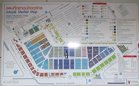 Map of the market  Picture of Chatuchak Weekend Market Bangkok