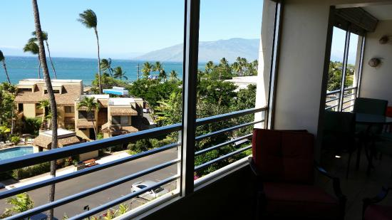 Kamaole Beach Royale Resort, ( #608): View from the balcony/lanai