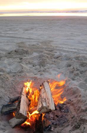 Oceano Dunes State Vehicular Recreation Area Beach Bonfire