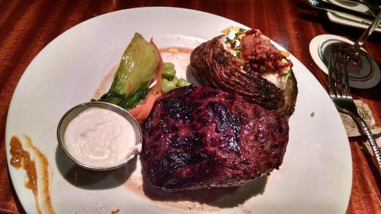 E&E Stakeout Grill: 14oz rodeo steak with loaded baked potato