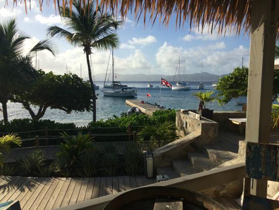 Cooper Island Beach Club Restaurant: View from the Rum bar