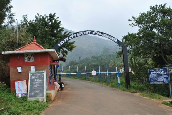 Kolli Hills, Indien: Entrance arch to the falls