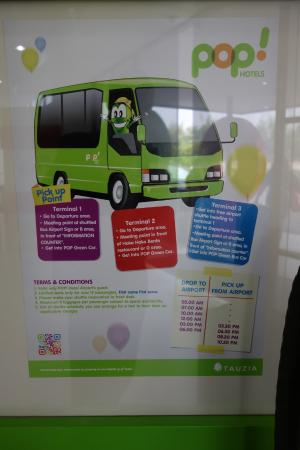 Time Table Of Shuttle Bus Picture Of Pop Hotel Airport Jakarta