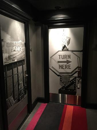 room doors have cool art and photos hotel max seattle tripadvisor rh tripadvisor com