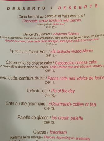 The Menu Picture Of Au Jardin Bistrot Geneva Tripadvisor