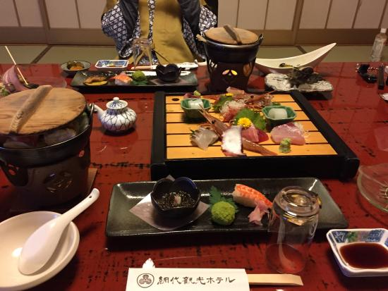 Ajiro Kankou Hotel: 夕食