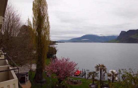 Seehotel Pilatus: Vista desde el balcón de la habitación