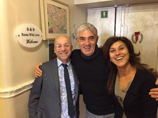B&B Rome with Love: Un ospite speciale Il grande Biagio Izzo