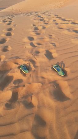 Desert Retreat Camp: flip flops in the sand