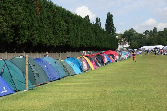 The All England Lawn Tennis Club: The over night queue setting up for the next day