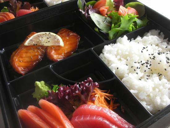 teriyaki salmon bento box picture of sora japanese cafe mermaid waters tripadvisor. Black Bedroom Furniture Sets. Home Design Ideas