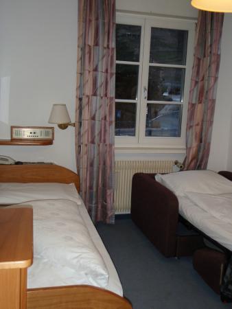 Hotel Rentschnerhof: ein Einzelzimmer mit dem Sofabett