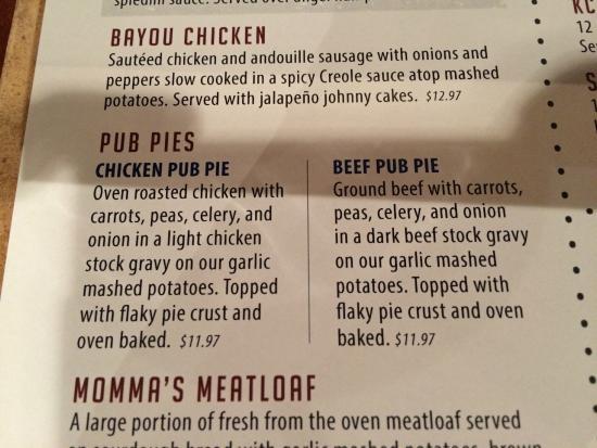 Springfield Brewing Co: Pub Pies