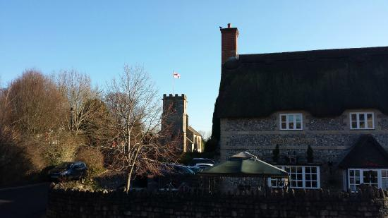 The Saxon Arms at Stratton: In the middle of a pretty village