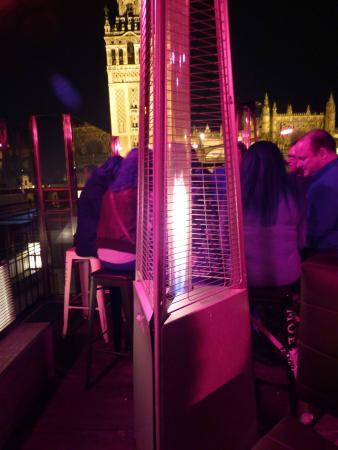 La Terraza Restaurante Panoramico de EME : Heizung und hinten Giralda