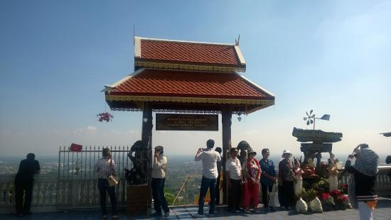 you can see a view of the city - Picture of Wat Phra That ...