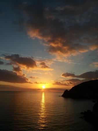 Ischia, Italy: tramonto a S.Angelo