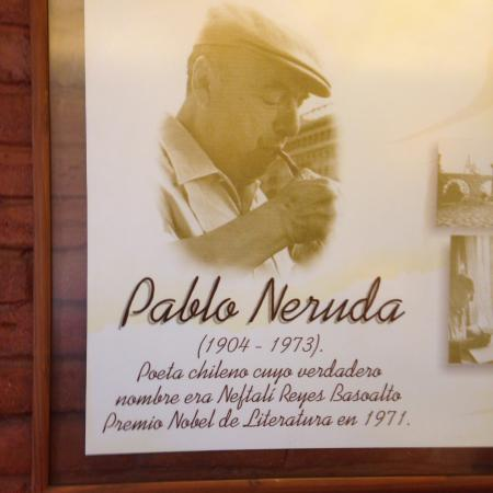 Pablo Neruda Picture Of Cafe Del Poeta Valparaiso