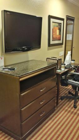 Econo Lodge Inn & Suites Near Legoland: Flat screen across from bed