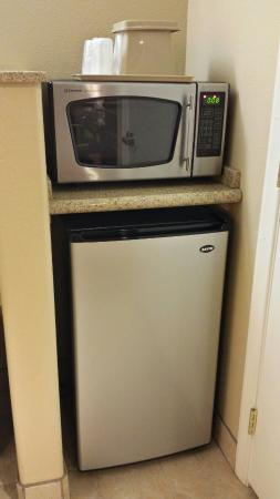 Econo Lodge Inn & Suites Near Legoland: Fridge and microwave in room
