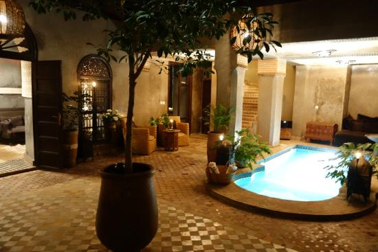 Riad Khol : hall d'entrée