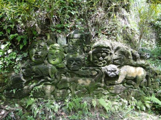 Stone carvings at goa gajah picture of elephant cave