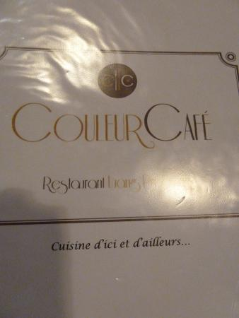 Couleur Cafe and Restaurant : Die vornehme Karte
