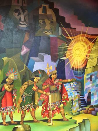 Hotel Munay Wasi : Beautiful wall art