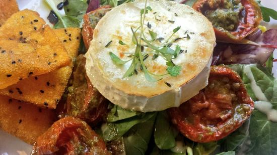 Same-Same but Different: Goat's cheese salad with polenta crisps - delicious!