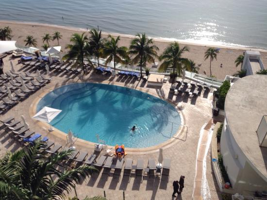The Ritz-Carlton, Fort Lauderdale: Pool view from our OV Suite