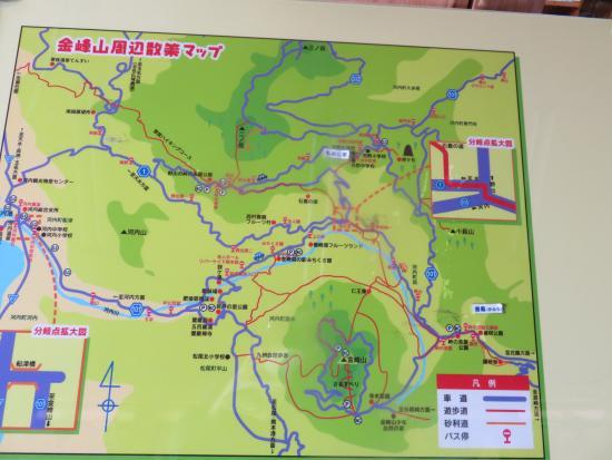 Kinbo Morinoeki Michikusakan: 金峰山周辺散策マップ