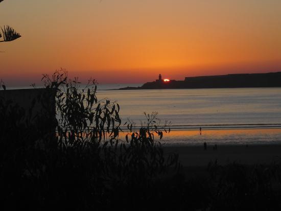 Residence La Galiote : coucher du soleil , contemplé de notre chambre.