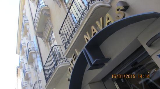 Hotel Navas: hotel sign