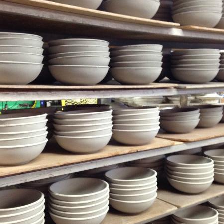 Heath Ceramics Plates Await Glazing & Plates Await Glazing - Picture of Heath Ceramics Sausalito ...