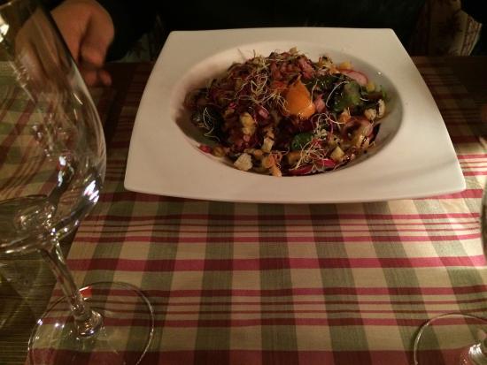 Hotel Restaurant La Placa: Salade aux lardons