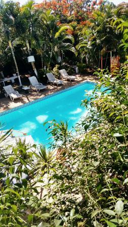 Recanto Dos Muller: Vista do quarto para a piscina