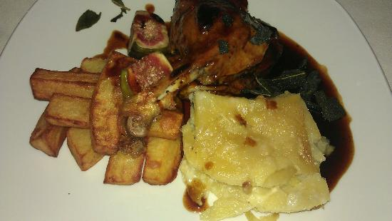 Albert's Shed: duck and dauphinoise potatoes