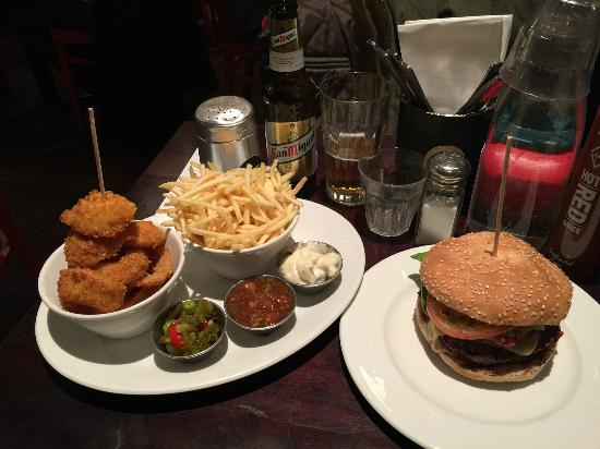 tasty dinner combination - Picture of Gourmet Burger Kitchen ...