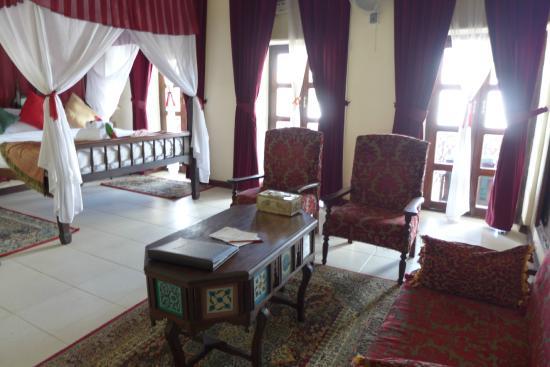 Zanzibar Hotel: view to the room