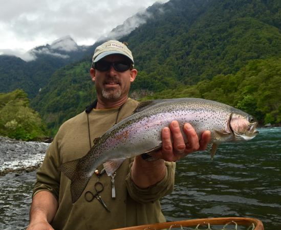 Jack Trout Fly Fishing: Jack Trout mon guide avec une de mes prises WOW !