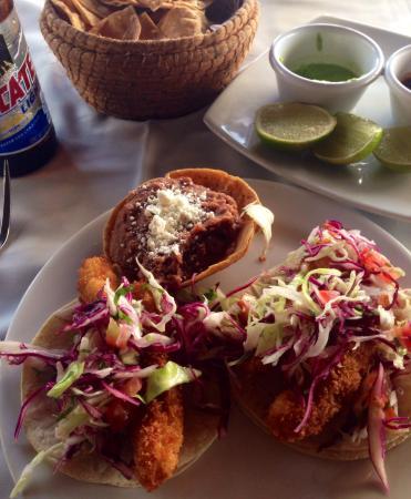 Mocambo: Tacos de pescado.