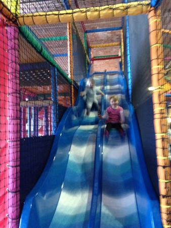 Fantastic Funhouse: The big blue slide was a hit :)