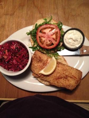 The Half Shell: Fried Fish Sandwich with Chili Slaw