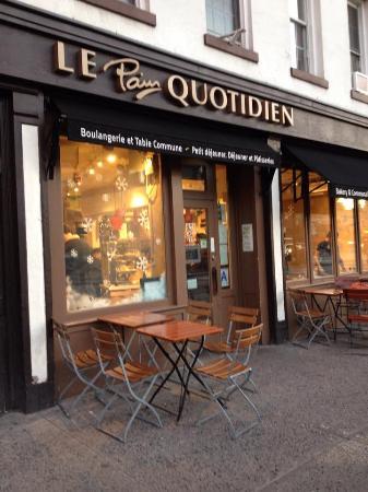Le Pain Quotidien : Fachada da Le Pain ..