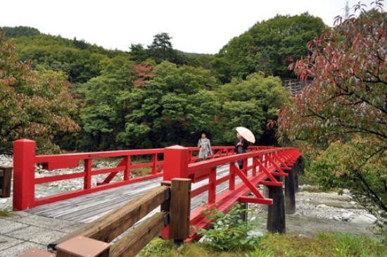 昼神温泉郷, 朱色の橋