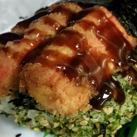Coco Cove: Crab stick musubi! Oishi