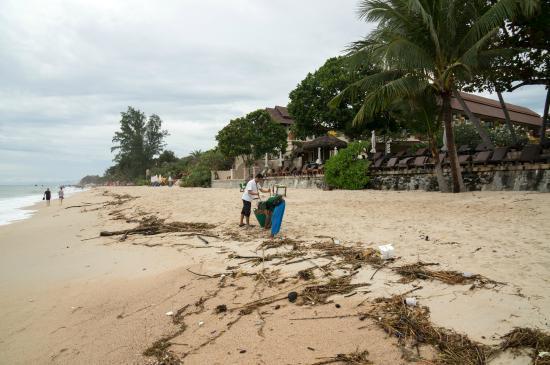 Aloha Resort : Пляж после шторма